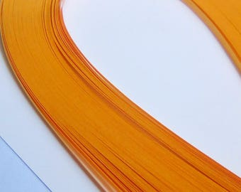 120 strips of paper quilling orangr 39cmx3mm