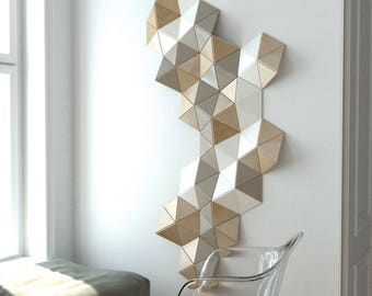 Attirant 3D Wall Decoration, Sculpture, 3d Wall Art, Wooden Wall Decor, Geometric  Wall