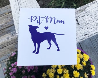 Pit Mom Decal Vinyl Decal