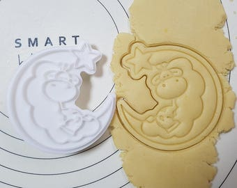 Baby Giraffe on the Moon  Cookie Cutter and Stamp
