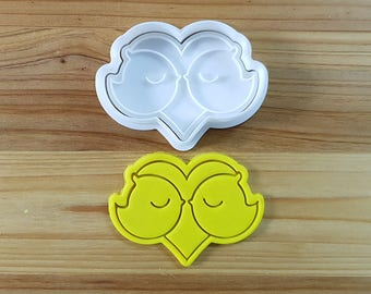 Two Birds in Love Cookie Cutter and Stamp