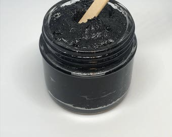 Bamboo Activated Charcoal Facial Scrub - Black heads, impurities, open pores, deep cleansing. Skin care, facial care