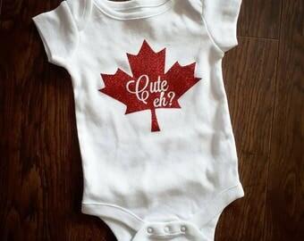 Cute eh? Canada inspired onesie