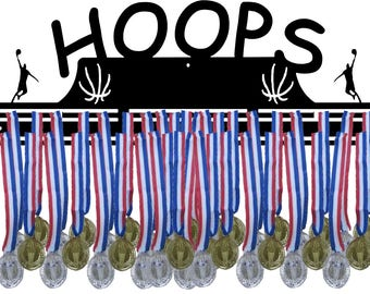 Basketball Hoops Awards Medal Hanger Display
