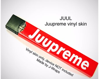 "JUUL V1 or V2 skin wrap Red White ""Juupreme"" skin wrap by Jwraps"