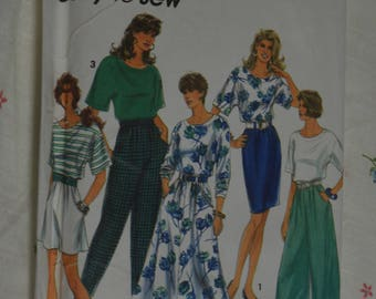 Simplicity 7898 Misses Split Skirt in Two Lengths Pants  Slim and Flared Skirt Sewing Pattern - UNCUT - Size Lg - XL