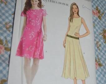 Butterick 4509 Misses / Misses Petite Dress Sewing Pattern - UNCUT - Size 14 16 18 20
