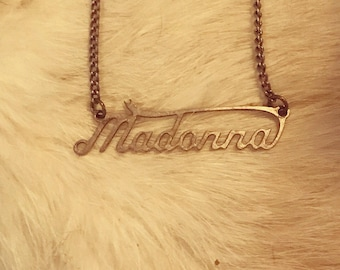 Madonna authentic music tour silver necklace collectable