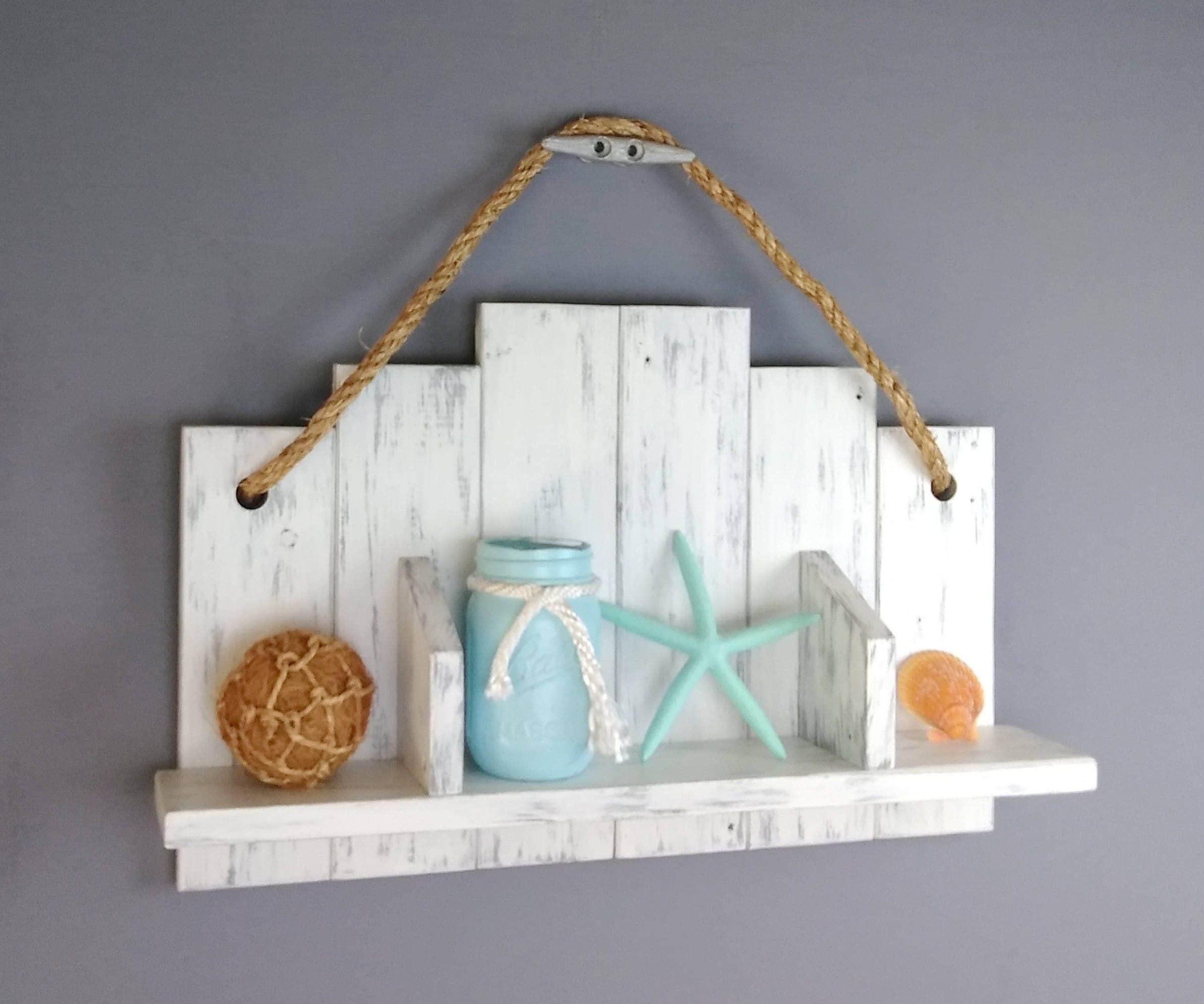 rustic wood and rope shelf over the toilet shelf wood. Black Bedroom Furniture Sets. Home Design Ideas