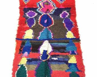 Boucharouit  7.7 × 4.2 feet / 230 × 125 cm moroccan  rug