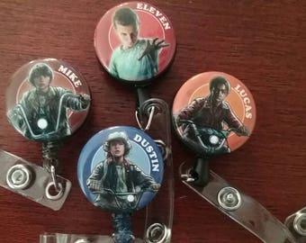 Stranger Things Kids ID badge reels