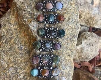 Vintage Unique Multistone Bracelet