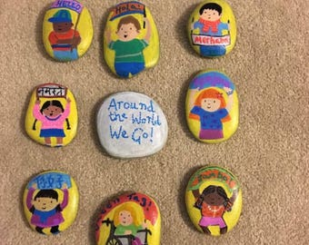 Story stones set. All Around the World,  Multi Cultural