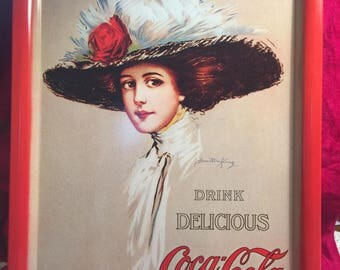 FIVE Coca Cola Trays in Very Very Good Condition