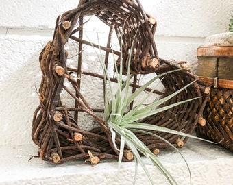 Vintage heart basket