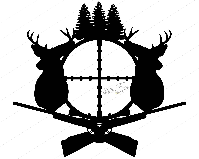 Deer Hunting Silhouette Clipart Gone Hunting Deer Rifle