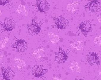 Purple Passion - 4105-61353-3 Purple Butterflies - from Exclusively Quilters