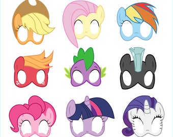My Little Pony Photo Booth Props Printable, My Little Pony Masks Printable, My Little Pony party, Unicorn props, My Little Pony supplies