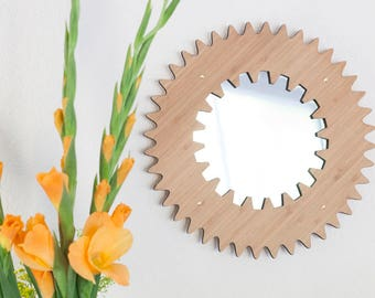 Back to the future. Bamboo mirror.