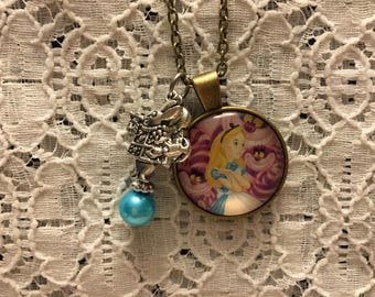 Alice in Wonderland Charm Necklace/Alice in Wonderland Jewelry/Alice in Wonderland Pendant/Alice Jewelry/Wonderland Jewelry