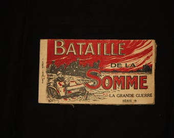 """WWI Postcard booklet from the """"Bataille de la Somme"""" (Battle of the Somme)"""