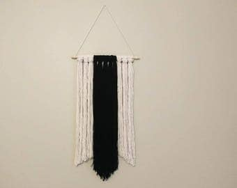 Macrame wall, macrame, home decor, wall decor, wall, black and white, decorative wall hanging, wool