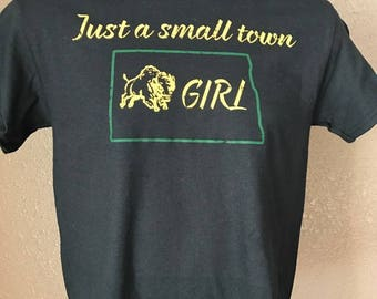 Just a small town North Dakota  Bison Girl