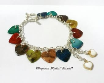 Love Heart Bracelet /Shell Bracelet /Heart Jewellery /Heart Bracelet /Natural Shell Jewellery /Valentines Gift /For her /Beach /Boho