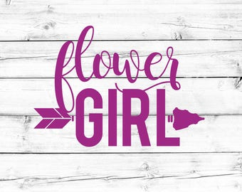 Flower Girl SVG - Wedding Svg, Bride Svg, Bridesmaid Svg, Bachelorette Svg, PNG File, Cut File, Vinyl Design, Cricut, Silhouette, Tribal SVG