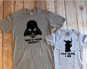 Daddy and Me Set, Too Cute I Am Youth Shirt