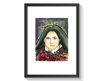 Saint Therese of Lisieux Original Watercolor Print