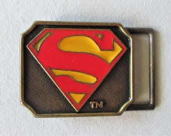 1944 Superman Belt Buckle DC Comics Lee Vintage Original