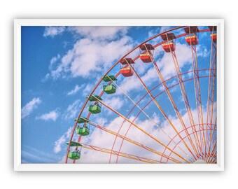 Ferris Wheel, Wall Art, Ferris wheel Wall Art, Ferris Home Decor, Carnival Ferris Wheel, Ferris Wheel Decor, Ferris Wheel Print, Big Wheel