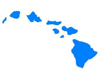Hawaiian Islands Vinyl Decal Hawaii Car Window Laptop Sticker