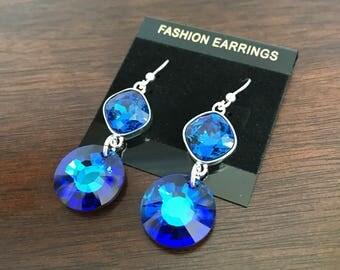Crystal Bermuda Blue Earrings