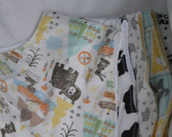 Burp Cloths - new flannel patterns just added