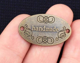 """Bronze """"Handmade"""" plaque"""