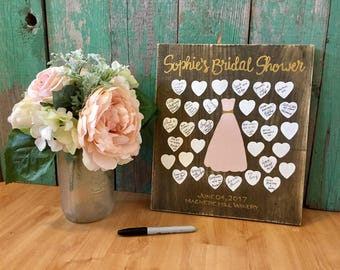 Bridal Shower Gift - Bridal Shower Decorations - Bridal Shower Guest Book - Wedding Guest Book - Wedding Guest Book Alternative