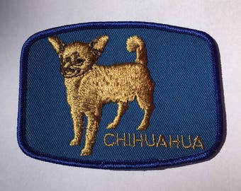 CHIHUAHUA Dog Breed PATCH Detailed Stitching L@@K Vintage Item Rare Unique