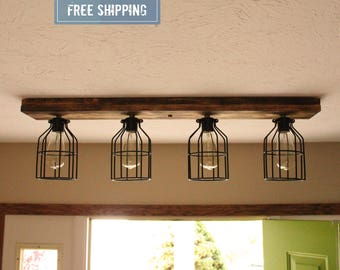 Shou Sugi Ban Flush Mount Wood Lights Wood ceiling lights Farmhouse LightsFarmhouse light   Etsy. Farmhouse Lighting Fixtures. Home Design Ideas