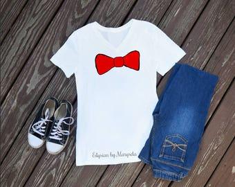 Dr Seuss Bow Tie V-Neck, Teacher Shirts, School Shirts