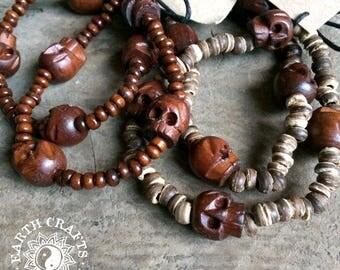 Wooden Skull Bracelets