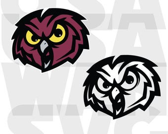 temple owls university svg, temple owls university png, temple owls university dxf, logo college ncaa football basketball instant download