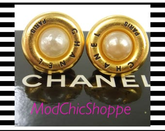 Authentic Chanel Earrings with imitation pearl! Stunning!