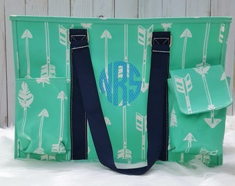 Monogram Tote, Diaper Bag, Monogram Tote Bags, Teacher Gift, Baby Shower Gift, Graduation Gift, Beach Wedding Tote, Nurse Tote Bag