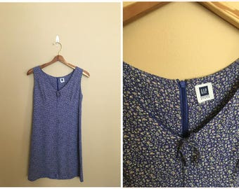 Vintage 1990's Gap Dress// Sheer Summer Floral Sleeveless