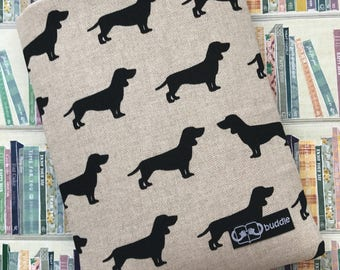 Buddle, small, padded book cover/sleeve (dachshund)