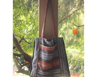 Hippie Tote/Striped Tote Bag