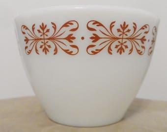 Pyrex copper filigree bouillon cup hornblower 714 tableware