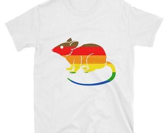 Philadelphia Pride Rat Unisex T-Shirt  lgbt lgbtqipa lgbtq mogai pride flag